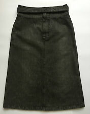 Max mara weekend gonna jeans nera mini maxi gonna tg 42 size w28 usata T692