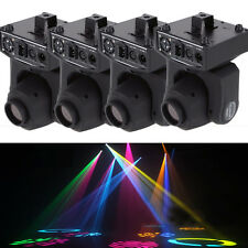 4PCS 30W RGBW GOBO Spot LED Stage Lighting Moving Head DMX Disco DJ Party Lights