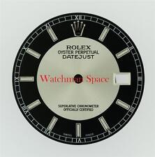 Original Men's Rolex Datejust 116200 116234 Black Silver Bulls Eye Dial S/S #Z30