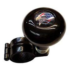 Black Steering Wheel Suicide Spinner Power Handle Knob Car & Truck - USA EAGLE