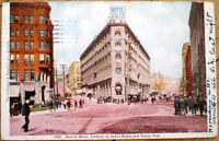 1907 Seattle, WA Postcard: Hotel/James Street/Yesler Way/Downtown - Washington
