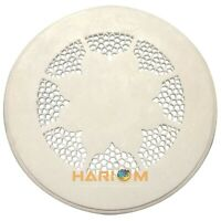 """15"""" Marble Round White Coffee Table Top Grill Hand Carved Lattice Home Deco W054"""