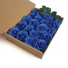 20 Pcs Artificial Flowers Foam Roses Wedding Bride Bouquet Party Gift Decor Blue