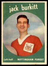 A&BC Footballers 1960 Black Back (B1) Jack Burkitt Nottingham Forest No. 24