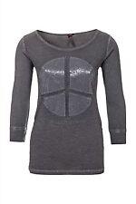 Hüftlange 3/4 Arm Damen-T-Shirts keine Mehrstückpackung