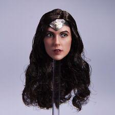 1/6 Wonder Woman Gal Gadot Head Sculpt Carving Model For 12'' Hot Toys Body