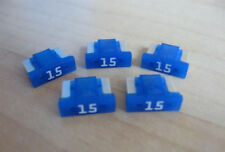 Lot of (5) Littelfuse ATM Low Profile Mini Fuse 15A 15 Amps Blue 0891015 #M152AD