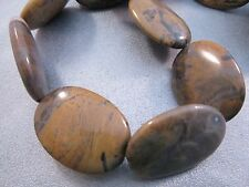 Texas Yellow Jasper Oval Beads 12pcs