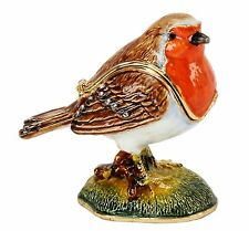 ROBIN, Garden Birds TRINKET BOX, Figurine,Ornament, Juliana Treasured Trinkets