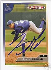 JIMMY GOBBLE 2005 KANSAS CITY ROYALS TOPPS AUTOGRAPHED BASEBALL CARD JSA