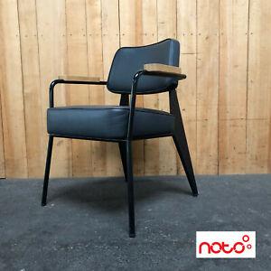 Vitra - Fauteuil Direction - Leder schwarz - Stuhl - 2nd Hand Designmöbel