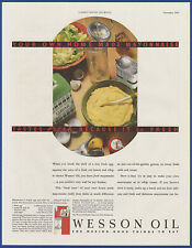 Vintage 1933 WESSON OIL For Homemade Mayonnaise Kitchen Art Decor Print Ad 30's