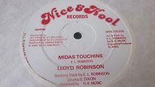 """LLOYD ROBINSON – Midas Touch 12"""" WITH MISPRESSED A-SIDE LABEL UK REGGAE EX- WAX"""