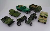 Vintage Matchbox  Half track APC Personnel carrier SP Gun Army Jeep Hondarora