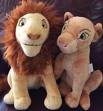NWT MINT Disney Store Adult SIMBA & NALA Plush Set  ~ The Lion King