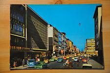 AK Karlsruhe, Kaiserstraße, gelaufen 1965, Straßenbahn, farbig, Ford, VW Bus,