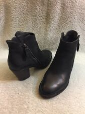 Paul Green Munchen Boots Ankle Black Leather Double Zipper Zip Women UK 5.5 US 8