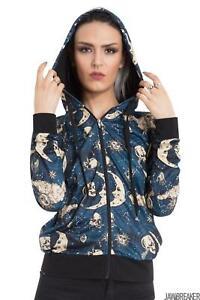 Womens Moonstone Hoodie Hooded Tops Sweatshirt Alternative Gothic Goth Punk