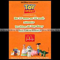 McDONALD'S & Figurines TOY STORY Disney - 1996 Pub / Publicité / Ad #A55