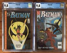 🦇🔥BATMAN #442 & #457 (Timothy Drake 1st app as Robin) CGC 9.8 DC 1989 1990🔥🦇