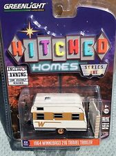 Greenlight  Hitched Homes  1964 Winnebago 216  travel Trailer Camper. w/ awning