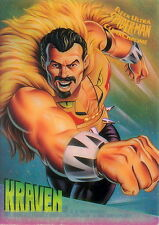 SPIDER-MAN 1995 FLEER ULTRA CLEARCHROME INSERT CARD 4 OF 10 KRAVEN MA