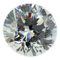 Loose Round Cut Clear CZ Stone Single Cubic Zirconia Birthstone Best Quality