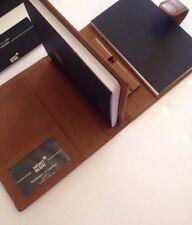 NEU MONTBLANC Cashmere Lambskin Leather Mappe Agenda Notebook braun -1131