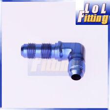 AN -3 AN 3 3 AN 90 Degree Bulkhead Fitting Aluminum Adapter Blue