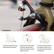 Fashion 1pc Cycling LED Brake Bike Light Tail Rear Bicycle Safety Warning Lamp
