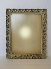 Picture Frame Gold Metal Pierced Filigree Easel Mid Century Victorian
