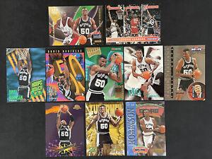 David Robinson Skybox Lot x10 - NBA Hoops Crunchers Hoops Power Z Force Zupermen