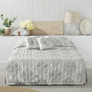 Bianca Tanaquil Silver Bedspread Set Coverlet King Bed Size
