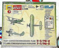 Zvezda 1/144 night bomber/reconnaissance bi plane u-2/po-2 model kit HTF Rare