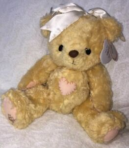 Cherished Teddies 1998 Plush Priscilla Hillman Tummy Heart Bear Bow Ribbon 13""