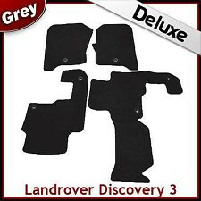 Landrover Discovery 3 Tailored LUXURY 1300g Car Mat 1 Clip GREY
