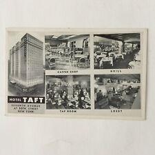Hotel Taft New York Radio City 7th ave and 50th st. Unposted Vintage Postcard