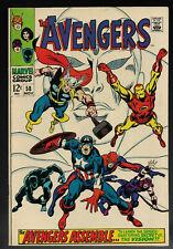 Avengers #58 MARVEL 1968 Origin of Vision Huge Key Captain America Fine 🎄