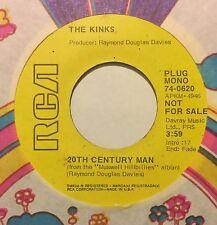 KINKS 20th Century Man/Skin And Bone 45 RCA promo