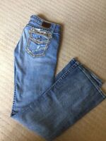 WOMENS BKE STELLA BOOT STRETCH JEANS SIZE 29.5x33 COTTON BLEND F-172