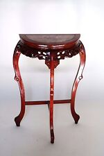 Vintage  Hand Carved French Pink Marble Top Hall Foyer Console Mahogany  Stand