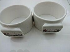 Pair of rare round Maxwell & Williams White Napkin Rings