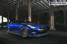 20x9 20x11 +28 Rohana RC7 5x114 Graphite Wheels Fit Nissan Gtr R35 2012 Concave