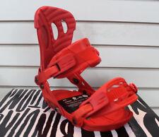 New 2016 Ride Vxn Womens Snowboard Bindings Medium Red