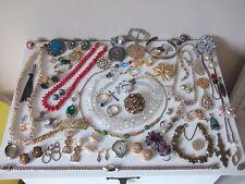 Interesting Antique / Vintage Jewellery Lot inc Silver - Wear / Repair / Spares