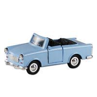 Trabi Trabant Cabrio blau Berlin,Modellauto DDR Metall 12 cm,NEU