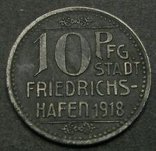 GERMANY (Friedrichshafen) 10 Pfennig 1918 - Iron - Notgeld - XF - 1171