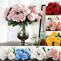 Simulation DIY 10 Heads French Rose Bouquet Artificial Silk Flowers Home Decor
