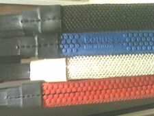"""New Leather Rubber Grip reins Made in England 5/8"""" leather (793)1 pr your choice"""