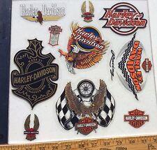 Lot Of 10 Vintage Harley-Davidson Decals, Inside Window Older Harley Stickers.
